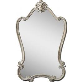 Walton Hall Antique White Mirror