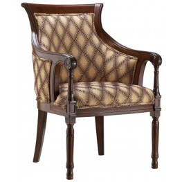 Tanager Barrel Back Hypnotize Latte Accent Chair