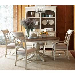 Weatherford Cornsilk Milford Round Dining Room Set