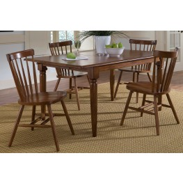 Creations II Tobacco Butterfly Leaf Extendable Dining Room Set