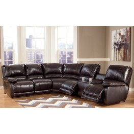 Capote DuraBlend Chocolate Power Left Arm Facing Reclining Sectional