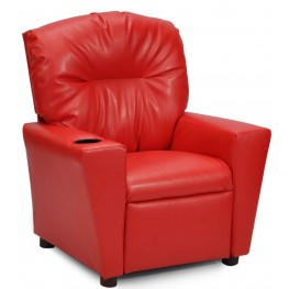 Juvenile Red Kids Recliner with Cup Holder