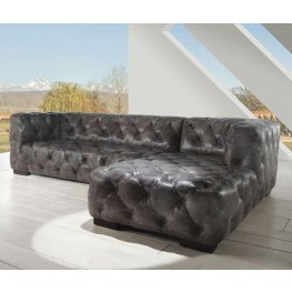 Manhatton Vintage Grey Leather RAF Sectional