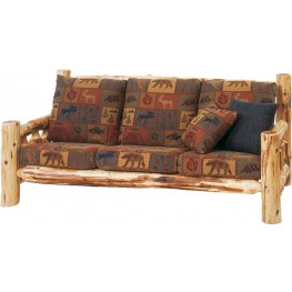 "Cedar Log Frame 84"" Sofa"