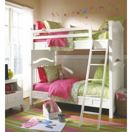 Classics 4.0 Smartstuff Saddle Summer White Bunk Bedroom Set