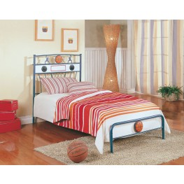 Melody Land Basketball Speaker Metal Bed (Twin)