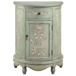 Lucille Weathered sage Accent Cabinet