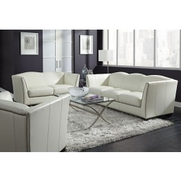 Marilyn White Leather Living Room Set