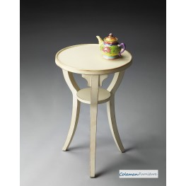 Cottage White 1328222 Round Accent Table