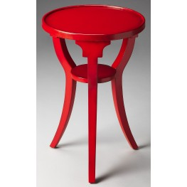 Dalton Loft Red Round Accent Table