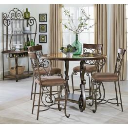 Bombay Dark Cherry Counter Height Dining Room Set