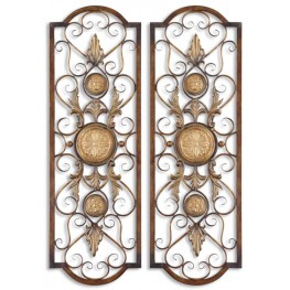 Micayla Antique Metal Panels, Set of 2