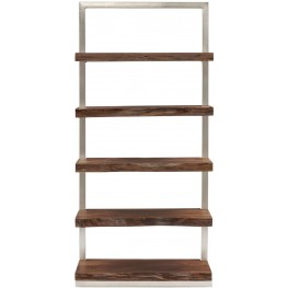 Live Edge Silver Ladder Shelf