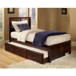 Paula Twin Platform Bed with Trundle