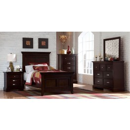 Glamour Youth Espresso Panel Bedroom Set
