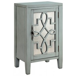 Leighton Blue-Grey 1 Door Accent Cabinet