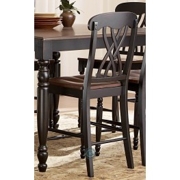 Ohana Black Counter Height Chair Set of 2
