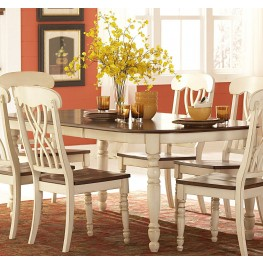 Ohana White Rectangular Dining Table