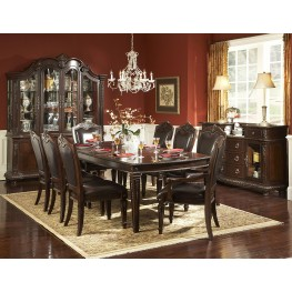 Palace Rich Brown Extendable Dining Room Set