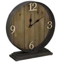 Horlbeck Aged Black Table Clock