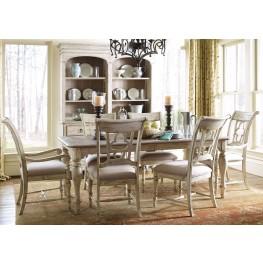 Weatherford Cornsilk Canterbury Extendable Rectangular Dining Room Set