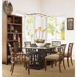 Ocean Club South Seas Rectangular Glass Dining Room Set