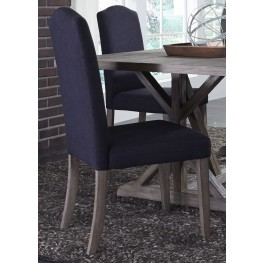 Carolina Lakes Charcoal Upholstered Side Chair Set of 2