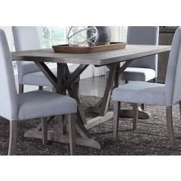 Carolina Lakes Gray Trestle Dining Table