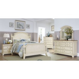 Inglewood White Poster Bedroom Set