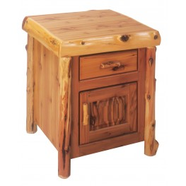 Cedar Enclosed End Table