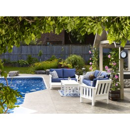 Stratford White Outdoor Living Set