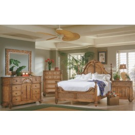 Palm Court Island Pine Poster Bedroom Set