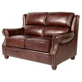 Appalachian Rustic Savauge Leather Loveseat