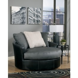Masoli Cobblestone Oversized Swivel Accent Chair
