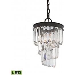 14216-1-LED Palacial Oil Rubbed Bronze 1 Light LED Pendant