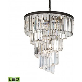 Palacial Oil Rubbed Bronze 9 Light LED Chandelier