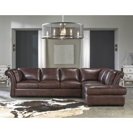 Angelina Rustic Savauge Leather RAF Sectional
