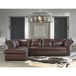 Angelina Rustic Savauge Leather LAF Sectional