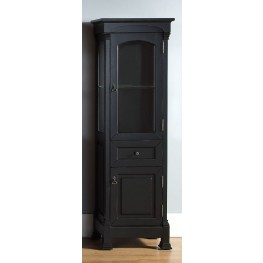 Brookfield Antique Black Linen Cabinet