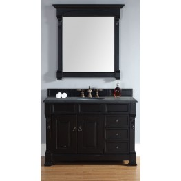 "Brookfield 48"" Antique Black Single Vanity With 2Cm Black Granite Top"