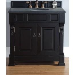 """Brookfield 36"""" Antique Black Single Vanity With 2Cm Black Granite Top"""