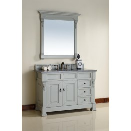 "Brookfield 48"" Urban Gray Single 3CM Top Vanity Set"