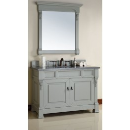 "Brookfield 48"" Urban Gray Single Vanity With 3Cm Shadow Gray Quartz Top"