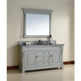 "Brookfield 60"" Urban Gray Single 3CM Top Vanity Set"