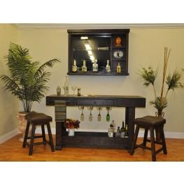 Gettysburg Dark Distressed Counter Height Bar Set