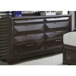 Newland Brown 8 Drawer Dresser