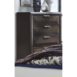 Newland Brown 5 Drawer Chest