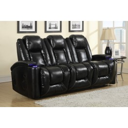 Matrix Black Power Reclining Sofa