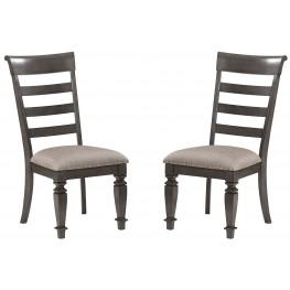 Garrison Burnished Grey Side Chair Set of 2
