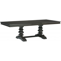 Garrison Burnished Grey Extendable Trestle Dining Table
